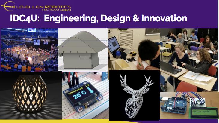 New at Lo-Ellen Park, Grade 12 Engineering, Design & Innovation